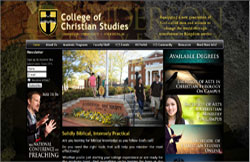 Custom Web Design Portfolio - College of Christian Studies at Anderson University