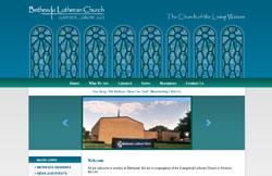 Custom Web Design Portfolio - Lutheran Church in Ames, IA