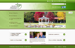 Custom Web Design Portfolio - Christian Retirement Center Website