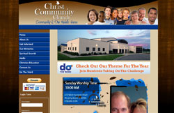 Custom Web Design Portfolio - Christ Community Church in Murphysboro, IL