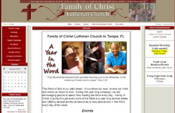 Custom Web Design Portfolio - Family of Christ Church & School