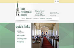 Custom Web Design Portfolio - First Presbyterian Church in Middletown, OH
