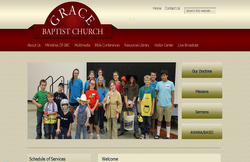 Custom Web Design Portfolio - Grace Baptist Church in Tyler, TX