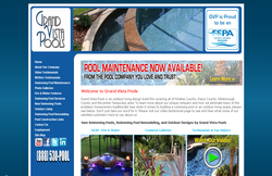 Custom Web Design Portfolio - Grand Vista Pools in Trinity, FL