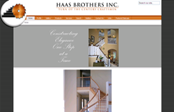 Custom Web Design Portfolio - Custom Stairs and Woodwork site