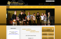 Custom Web Design Portfolio - Lutheran High School South