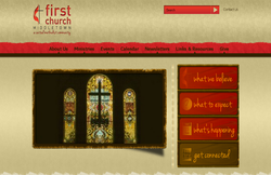 Custom Web Design Portfolio - First United Methodist Church in Middletown, Ohio