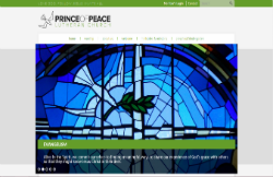 Custom Web Design Portfolio - Prince of Peace Lutheran Church in Schaumburg, IL