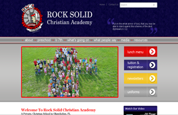 Custom Web Design Portfolio - Rock Solid Christian Academy