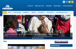 Custom Web Design Portfolio - Santa Maria del Mar Catholic Church Flagler Beach, FL