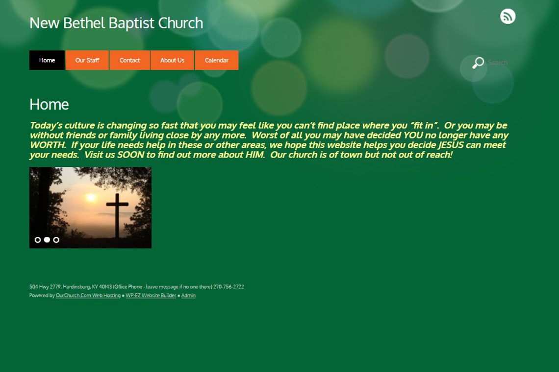 New Bethel Baptist Church in Hardinsburg, KY