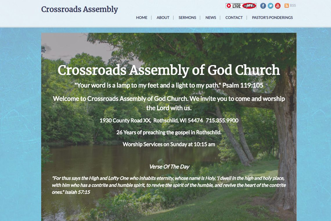 Congrats Crossroads Assembly of God Church, Rothschild, WI