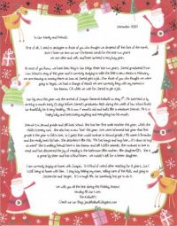 christmas letter for a friend: