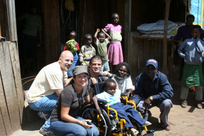 Samuel receives a wheelchair in rural Kenya