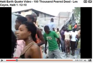 haiti earthquake on youtube