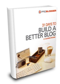 31 Days to Build a Better Blog group project