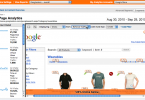 Google Analytics in-page report