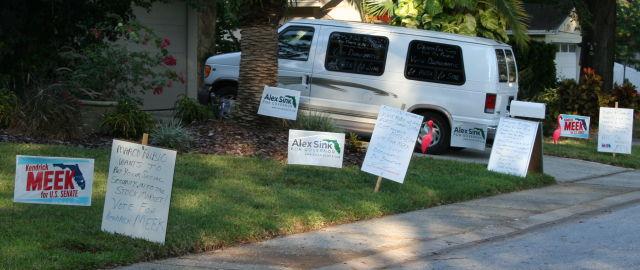 yard sign clutter