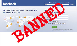 facebook banned