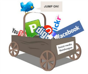 church social media bandwagon