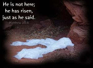 He is risen Easter