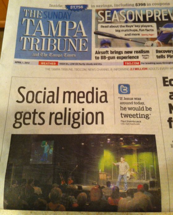 Church Social Media - Tampa Tribune
