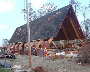 camp katrina, waveland, MS church