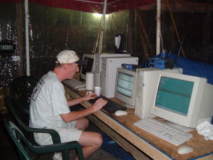 camp katrina, computers and internet