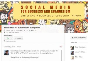 social media for business and evangelism