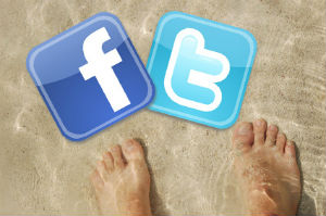 social media and vacation