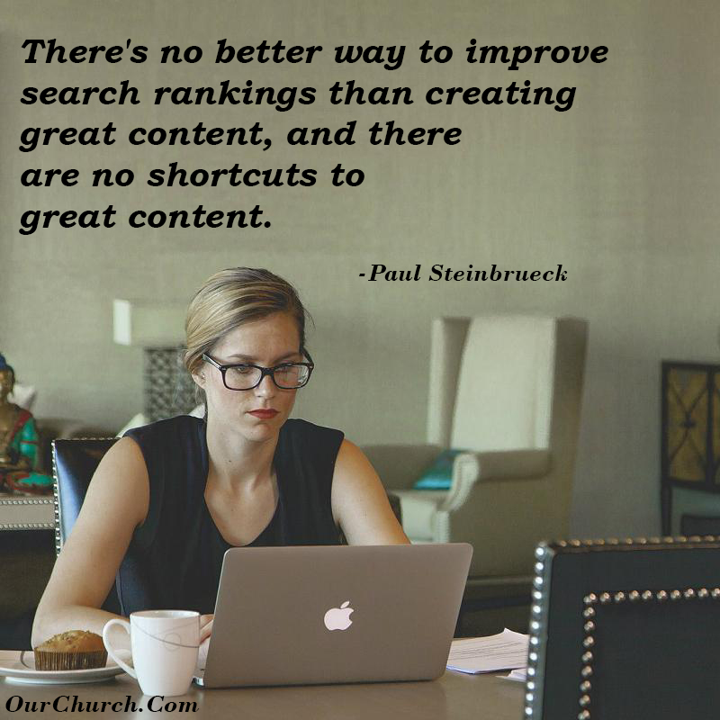 better search rankings create content