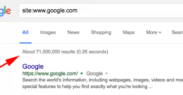 google-result-estimate