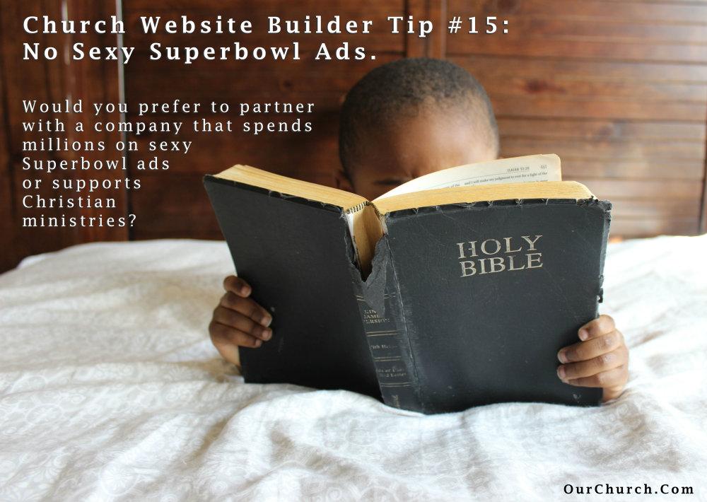 Church-Website-Builder-Tip-15-no-sexy-superbowl-ads