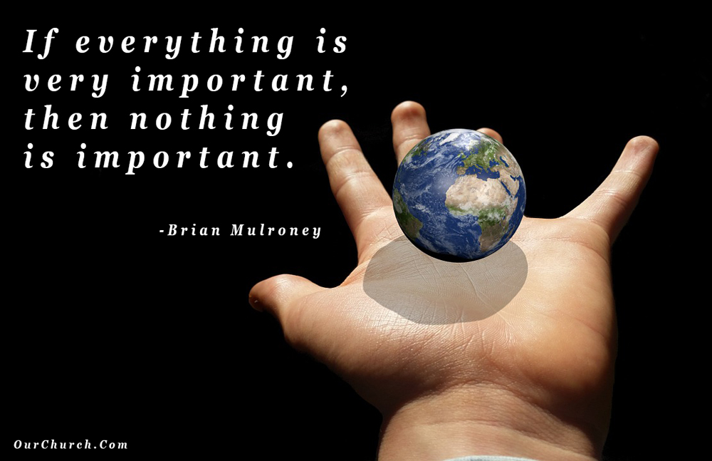 quote if everything is important