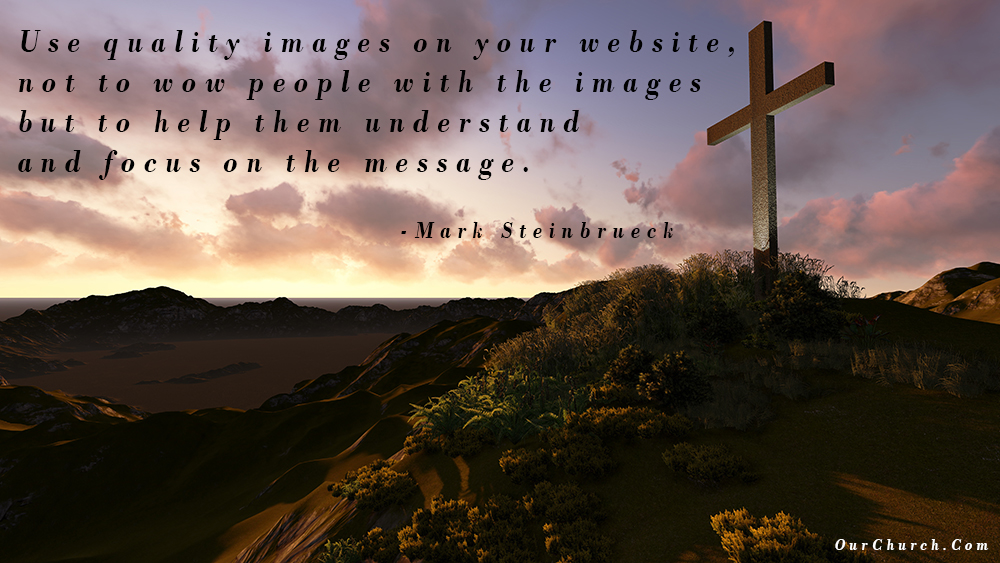 best church websites - quality images
