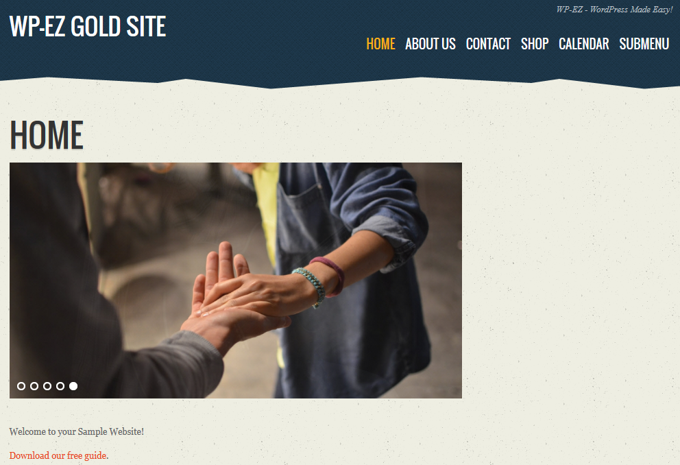wp-ez-website builder empty sidebar