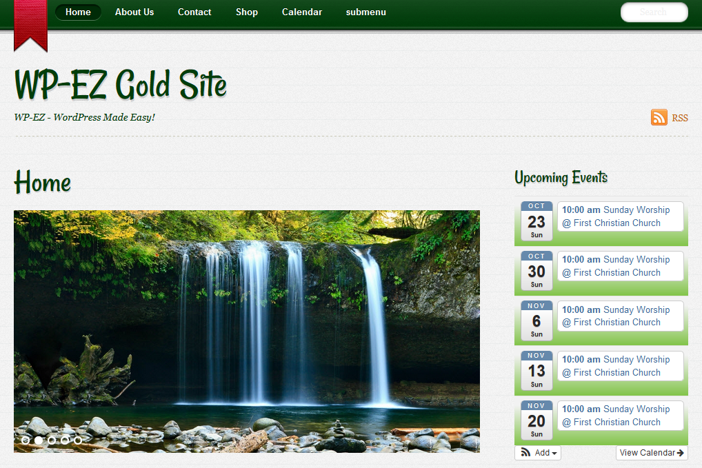 WP-EZ Website Builder - notes-green-inspiration-theme