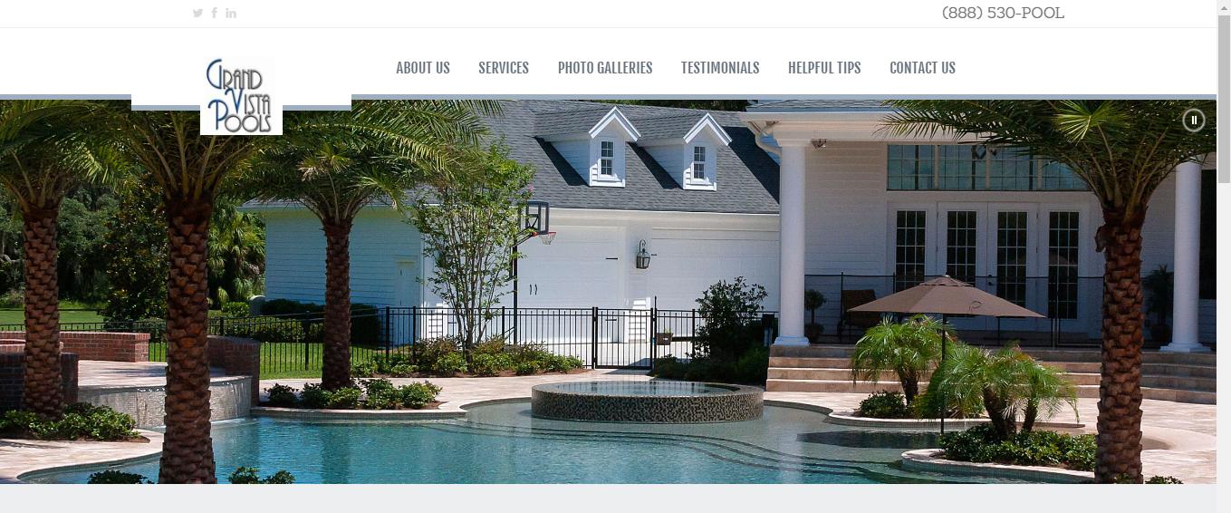 grand vista pools website redesign