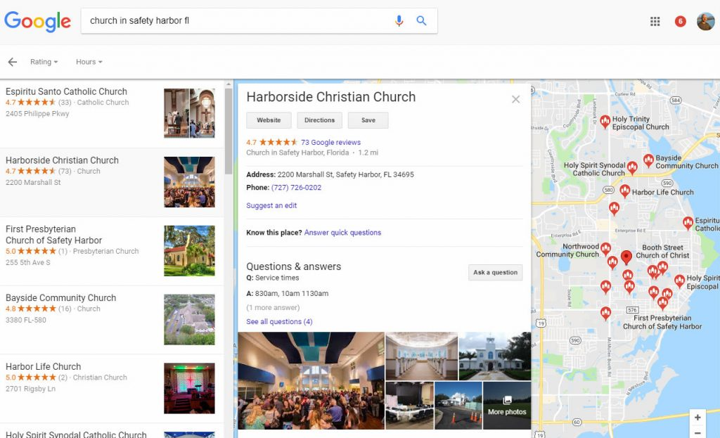 Google My Business for church