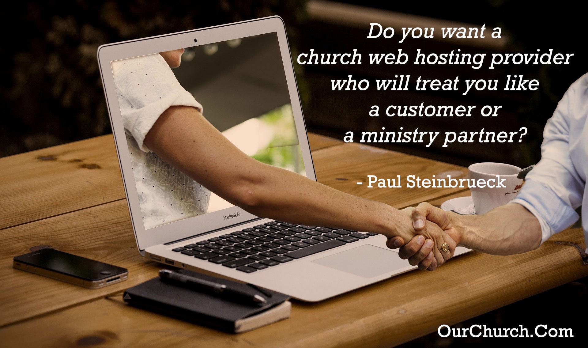 church web hosting - Christian ministry partner