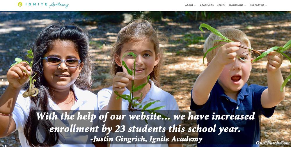 school website design and marketing - Ignite Academy