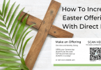 Easter offering, direct mail w QR code