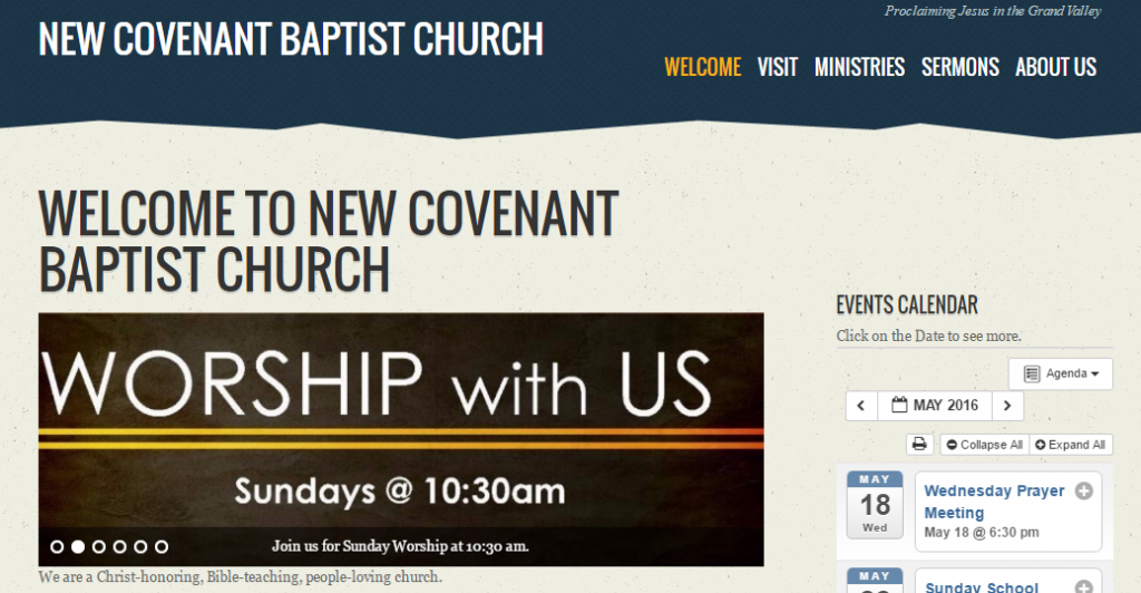 Featured WP-EZ site - New Covenant Baptist Church, Grand Junction, CO