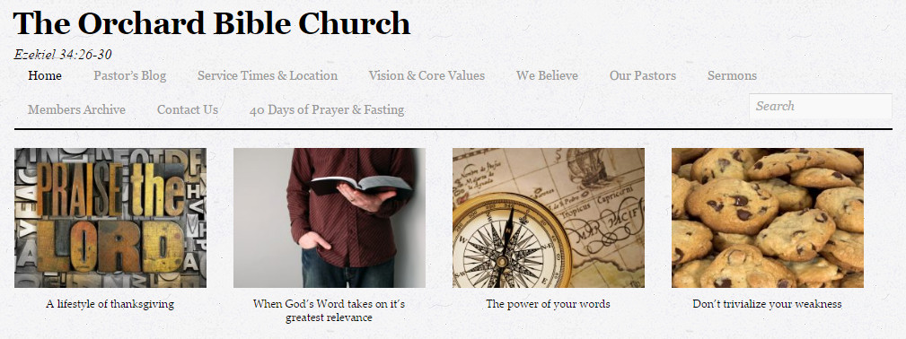 Featured WP-EZ church website - The Orchard Bible Church in El Mirage, AZ