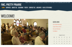 Featured WP-EZ church website - First Mennonite Church in Pretty Prairie, KS