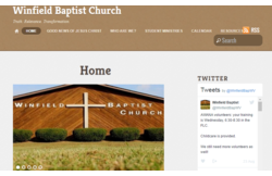 Featured WP-EZ church website - Winfield Baptist Church in Winfield, WV