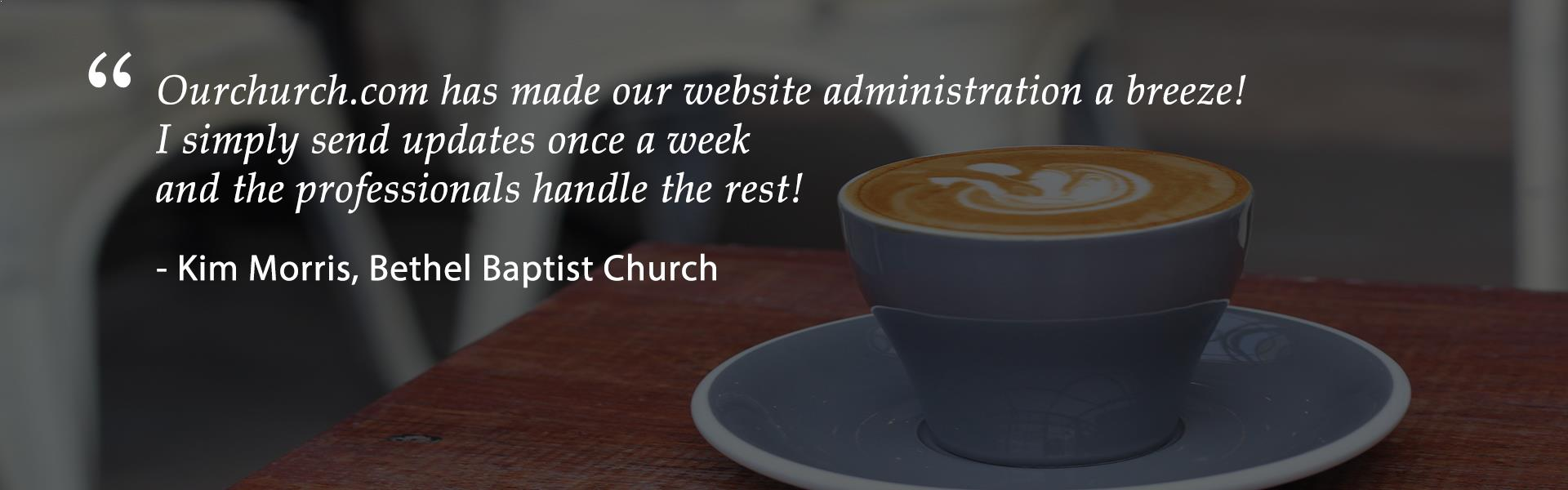 Christian church web design testimonial