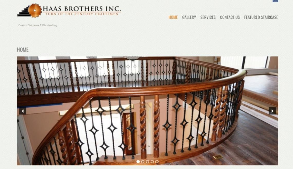 haas Christian website design example