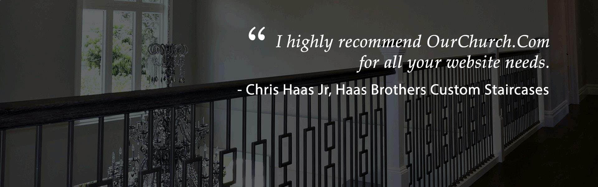 haas christian website design quote