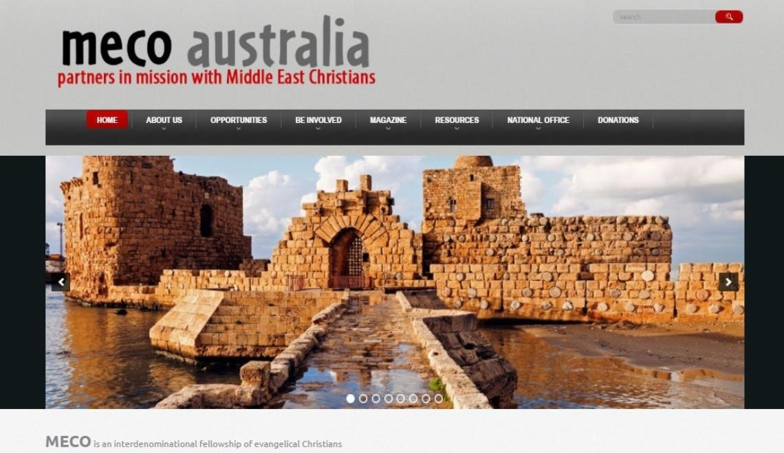 meco church web design example